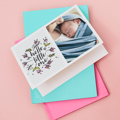 Personalised Card New Baby