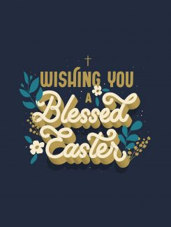 Religious Easter Card