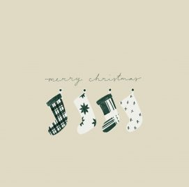 Stockings Christmas Card