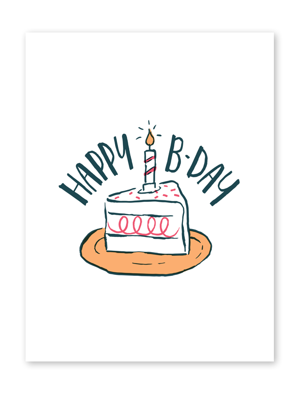 Touchnote birthday cake card